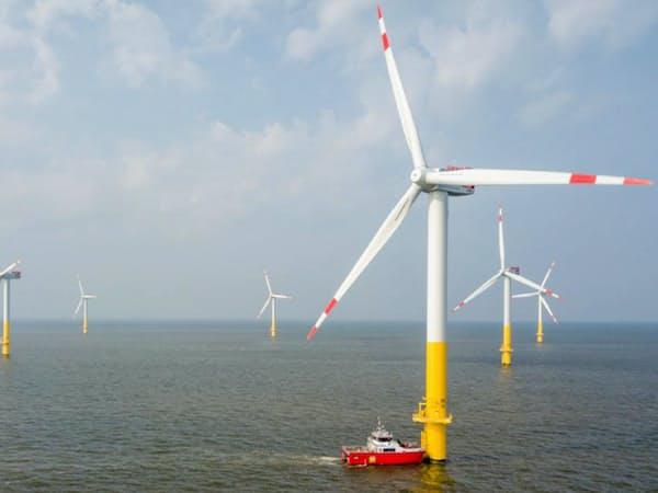 洋上風力発電は拡大する見通し(wpd社が運営するドイツの発電設備)