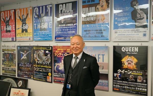 阿波おどり事業の運営を受託した共同事業体の総責任者、前田三郎キョードー東京取締役兼キョードーファクトリー社長(4日、東京・港の本社で)