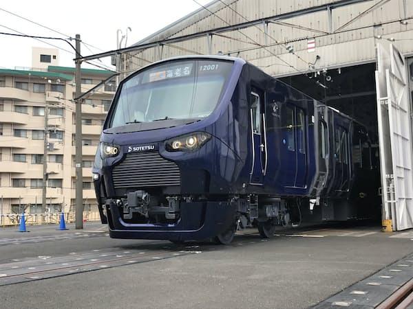 11月末にJR線に乗り入れる新型車両「12000系」