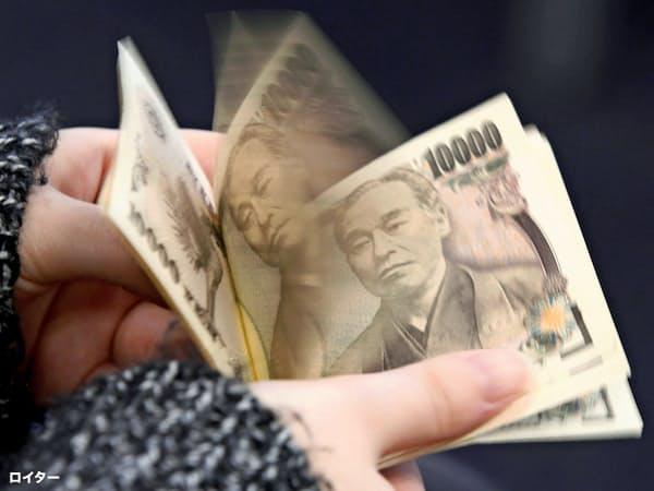 福沢諭吉が描かれた現行の1万円札=ロイター
