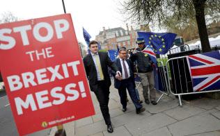 5月に実施される地方選で、英保守党は大敗を喫する可能性が高いとみられている=ロイター