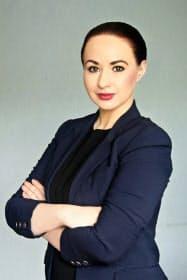 ロシアのウスチイリムスクで市長に就任するアンナ・シェキナさん=本人のフェイスブックより