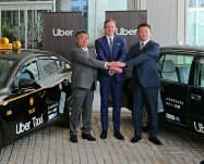 米ウーバーは広島市などでタクシー配車サービスを始めた(9日、広島市)