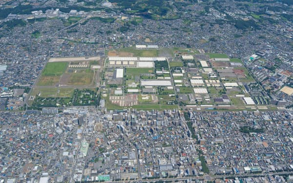 一部が返還された米軍相模総合補給廠(相模原市)