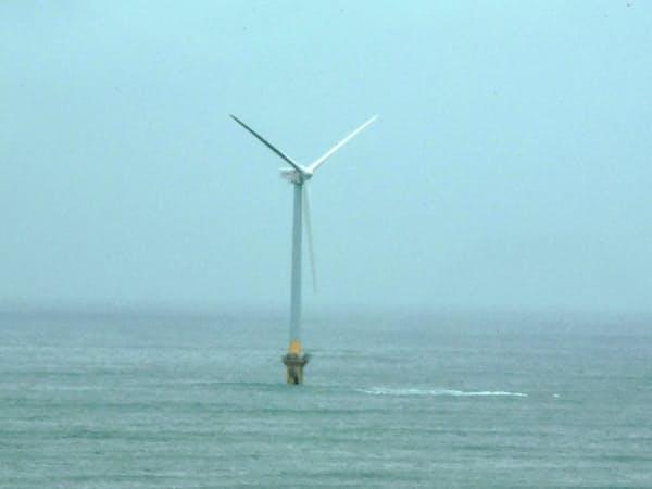 東京電力は1月から洋上風力発電の商用運転を始めた(千葉県銚子市沖)