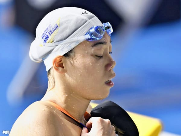 女子200メートル平泳ぎ2連覇中の青木玲緒樹ら実力者も派遣標準記録を突破できなかった=共同