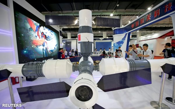 中国の宇宙ビジネスは成長している(中国航天科技の宇宙ステーション)=ロイター