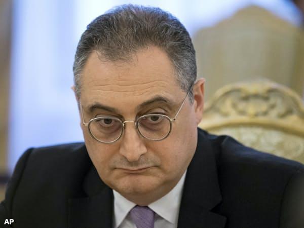平和条約交渉の実務を担うモルグロフ外務次官=AP