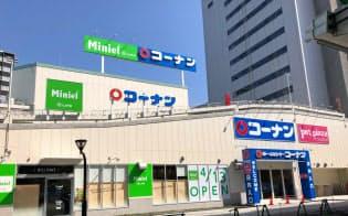 ライフコーポレーションはコンビニサイズの小型店「ミニエル西本町店」(大阪市西区)を13日に開業する。