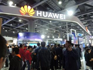 ファーウェイは半導体開発に力を入れている(18年12月、広州市)