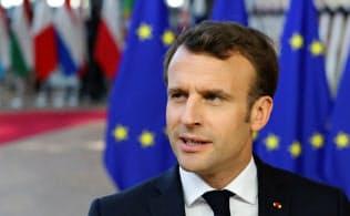 マクロン大統領は「大幅な離脱期限の延期は、EUのためにも、英国のためにもならない」と語った=ロイター