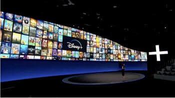ウォルト・ディズニーが11月に米国で始める動画サービスでは「ディズニー」「ピクサー」などの映画作品を楽しめる(11日、米カリフォルニア州バーバンク)
