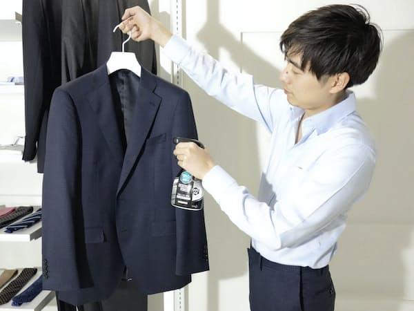 レナウンがスーツ定額レンタルサービス「着ルダケ」の利用者に提供する花王の消臭スプレー「リセッシュ」