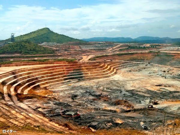 金市場では採掘量の頭打ち懸念が広がる(ランドゴールドの鉱山)=ロイター