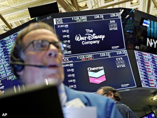 ディズニー株は12日、上場来高値を更新した(ニューヨーク証券取引所)=AP