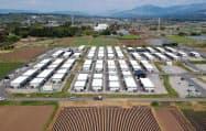 空室が増えてきた被災地の仮設住宅(13日、熊本県益城町)