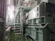 日本橋室町三井タワー内に都市ガスから電力と熱を作り供給するシステムを導入した