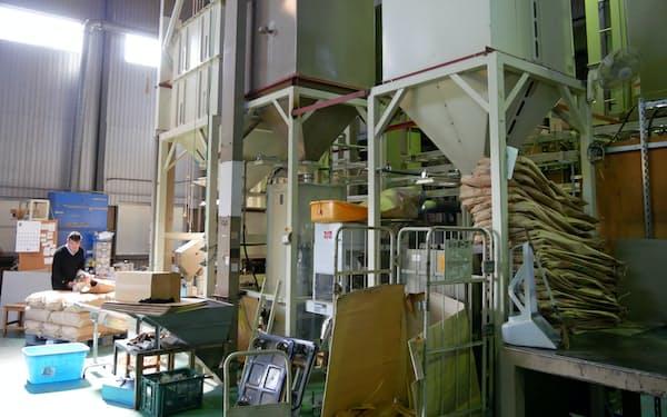 HACCPの認証取得を目指しているライスグローワーズの精米施設