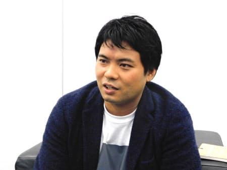 「2020年2月までに独自AIカメラを3万台製造したい」と意気込む永田社長(東京・港)