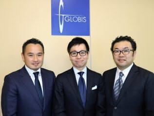 グロービス・キャピタル・パートナーズの3人の代表パートナー。左から今野穣氏、仮屋薗聡一氏、高宮慎一氏