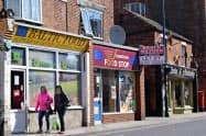 ボストンの町中には中・東欧系などの食品スーパーが多く立ち並ぶ(13日)
