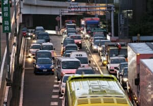 東京五輪期間中は首都高速道路の渋滞が予想される