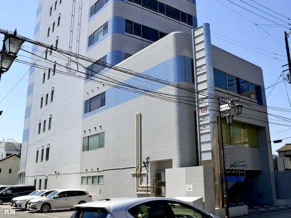 土木工事会社「相双リテック」が入るビル(16日午前、福島県いわき市)=共同