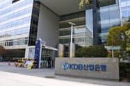 アシアナ航空の売却先の決定に影響力があるとみられる政府系金融機関の韓国産業銀行(16日、ソウル)