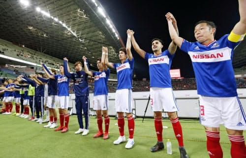 横浜Mはポステコグルー・サッカーの進化形でスピード感あふれる攻撃を見せる=共同