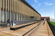 福井駅の拡張施設には新幹線が見える屋上広場を設ける