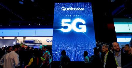 1月に開かれた技術見本市でクアルコムは5G対応を前面に押し出した(ラスベガス)=ロイター