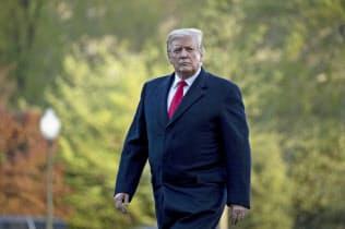 トランプ米大統領はサウジアラビアとの協力関係を重視している(15日、ワシントン)=AP
