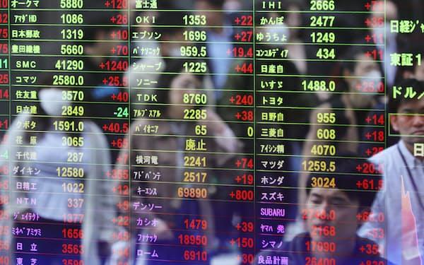17日午前の東京市場で日経平均株価は5日続伸した