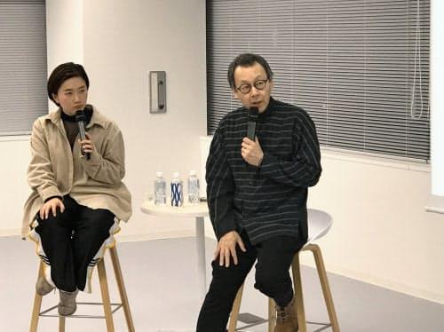 龍崎翔子さん(左)と星野佳路さん