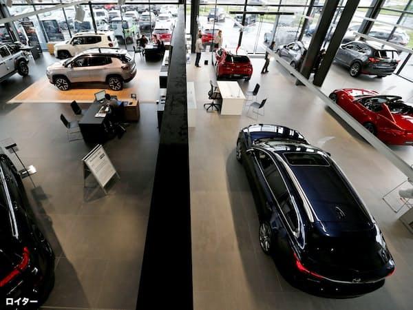 欧州新車販売は前年割れが続く=ロイター