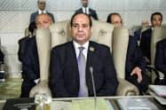 エジプトのシシ大統領=AP