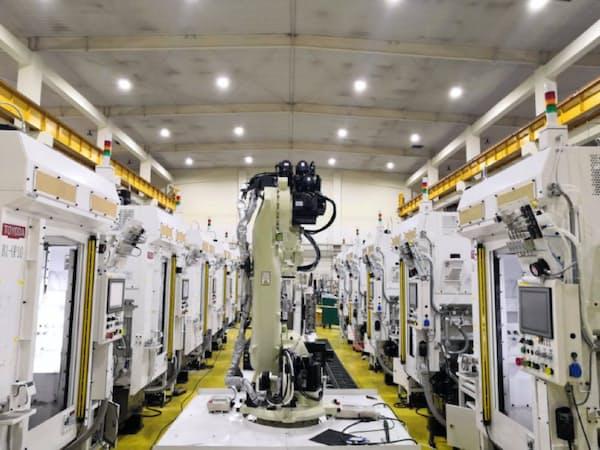 ジェイテクトは中国で工作機械の生産能力を3割引き上げる(大連の工場)
