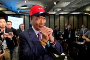 台湾の次期総統選へ出馬を決めた鴻海(ホンハイ)精密工業の郭台銘(テリー・ゴウ)董事長=ロイター
