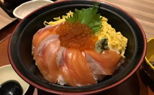 サーモンイクラ丼(税込み1200円)