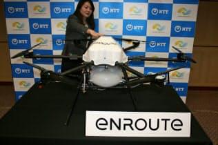 NTTなどが農業の効率化で使うドローン