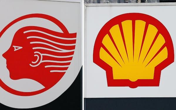 出光興産(左)と昭和シェル石油が経営統合した