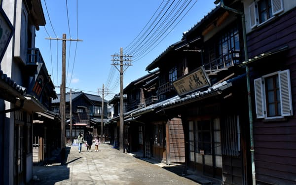大正・昭和を再現した「近現代エリア」などがあり、その時代に入り込んだ気分を楽しめる(茨城県つくばみらい市)