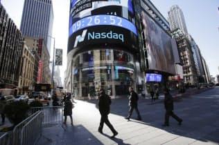 既存の証券取引所が仮想通貨への関心を強めている(米ナスダック=AP)