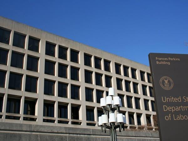 米労働省(ワシントン)
