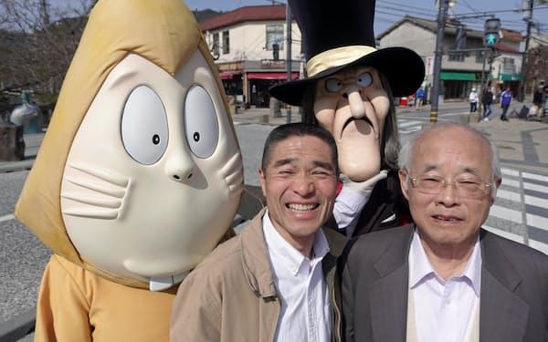 伊達憲太郎さん(左)と桝田知身さん