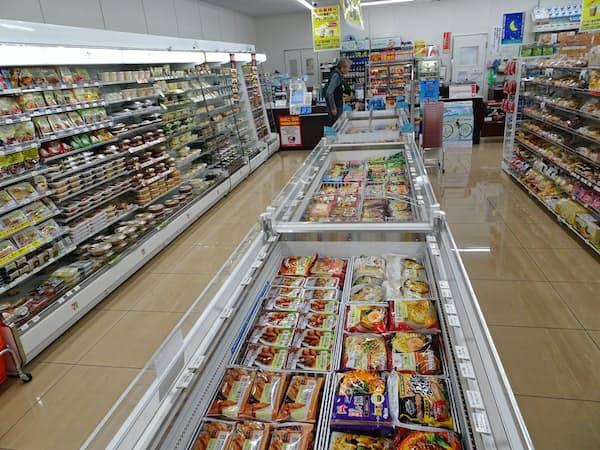 冷凍食品の販売ケースを増やした店舗の展開を始めた(川崎市のセブンイレブン)