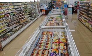 冷凍食品の販売ケー?#24037;?#22679;やした店舗の展開を始めた(川崎市のセブンイレブン)