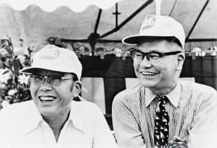 2人の創業者(本田宗一郎氏(左)と藤沢武夫氏)のアイデアから本田技術研究所が生まれたが、その役割を問い直す時期がきた