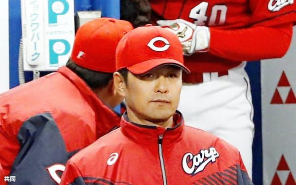 苦境を打開できるか、広島・緒方監督の投手陣再整備にも注目だ=共同