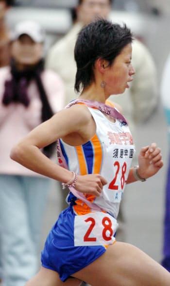 2006年の全国高校駅伝では2区で20人抜きの快走